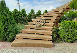تراورتن طرح چوب و پله